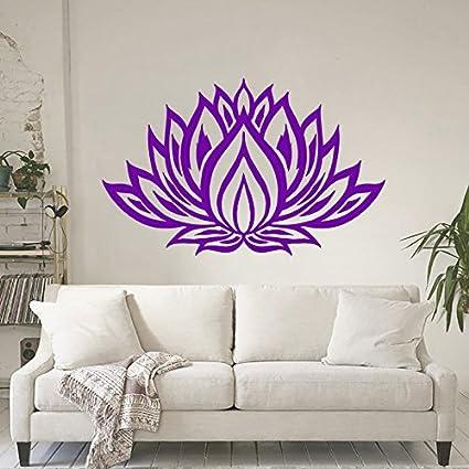 Lotus Flower Wall Decals Yoga Studio Bedroom Living Any Room Vinyl