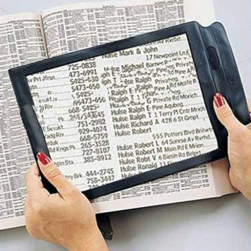 - xatos A4 Full Page Magnifier Handheld Reading Aid Magnifying Glass Lens Perfect for Reading Books Newspapers Low Vision Aids Large Sheet Magnifying Large Rectangular