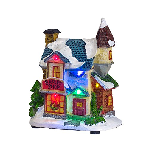 Battery Operated LED Light Up Christmas Village Scene by Lights4fun, Inc. (Image #1)