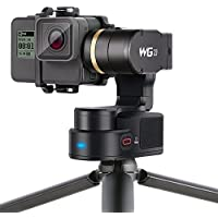 Waterproof Wearable Gimbal, Feiyu Tech WG2 Updated 3-Axis Portable Gimbal Stabilizer for Gopro Hero5/4/Session and Action Cameras with Similar Dimensions (Tripod Included)