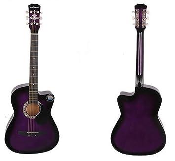 guitarra profesional y nueva acústica 38 inches pulgadas esenciales de escenario violeta