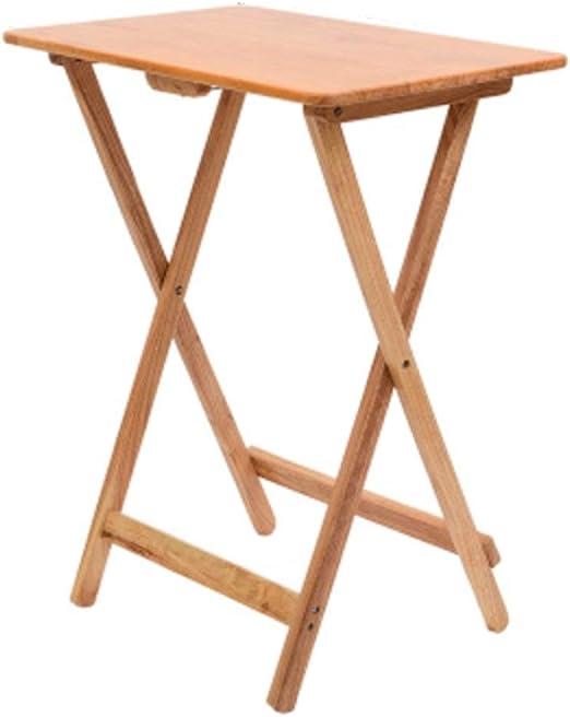 Mesa plegable de madera natural NAN - Robusta y duradera con un ...