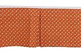 Bacati Arrows Crib/Toddler Ruffles or Skirt, Orange
