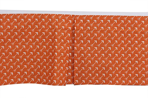 Bacati Arrows Crib/Toddler Ruffles or Skirt, Orange by Bacati