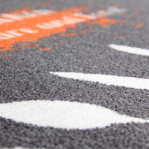 Carvapet 3 Piece Non-Slip Kitchen Mat Rubber Backing Doormat Runner Rug Set, Kitchenware Design (Grey 15