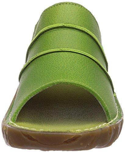 El Naturalista Yggdrasil - sandalias abiertas de cuero mujer gris - Grau (Green)