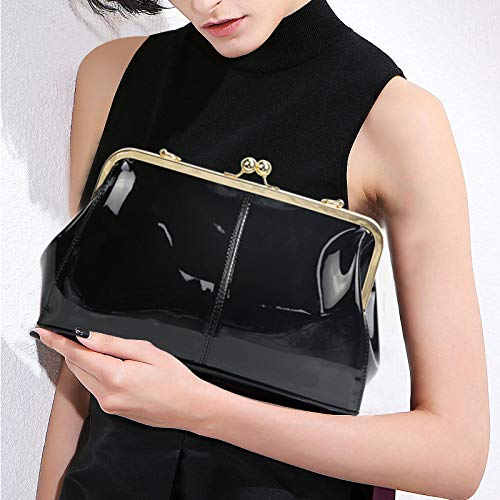 Buy patent leather clutch handbag
