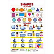 Spectrum Pre - School Kids Learning Laminated 2D and 3D Shapes Name Wall Chart