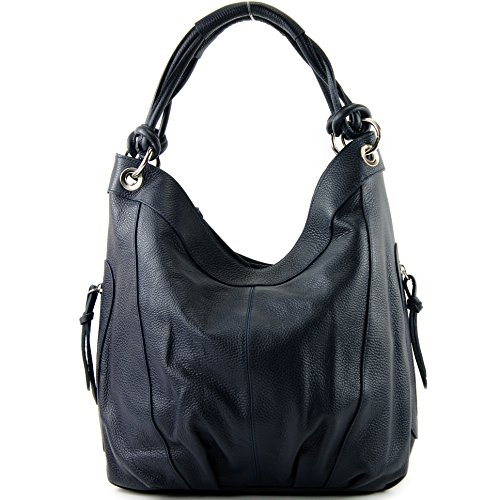 Large Nappa Choice cm Z18 42x16x30 Leather Italian Blue ModaModa Women's Colour Shoulder Bag Leather Dark nwT8Xxvq
