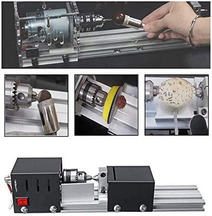 4YANG 96W Mini Lathe Machine Portable Benchtop Lathes, DIY Woodworking Lathe Beads Grinding and Polishing Drill Tool Set, Ideal for Wood Carpenter and Craft Enthusiast