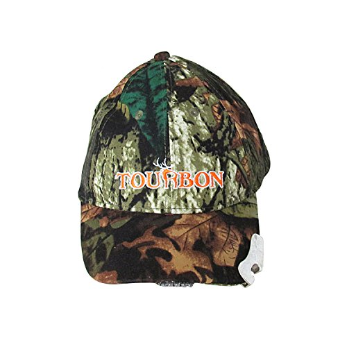 Tourbon Hunting Tactical Camo Hat LED Cap with Beer Bottl...