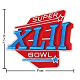 super bowl 2007 - NFL Super Bowl XLII 2007 Style-42 Embroidered Iron On Patch