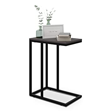 Amazon Com Wlive Snack Side Table C Shaped End Table For Sofa
