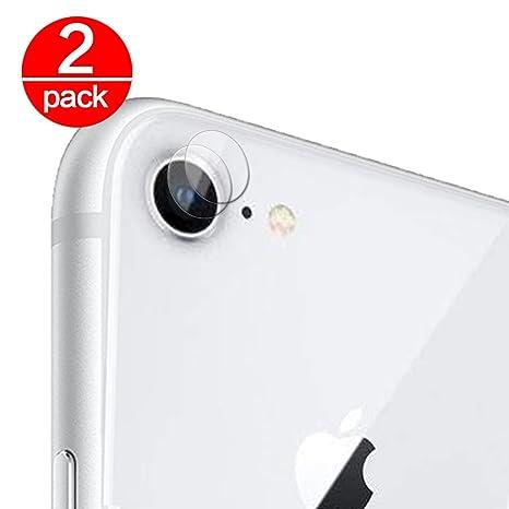 3b29b100dd7 2X Cristal Templado para Lente Cámara de iPhone 7/iPhone 8 Ultra Fino  Protector 2.5
