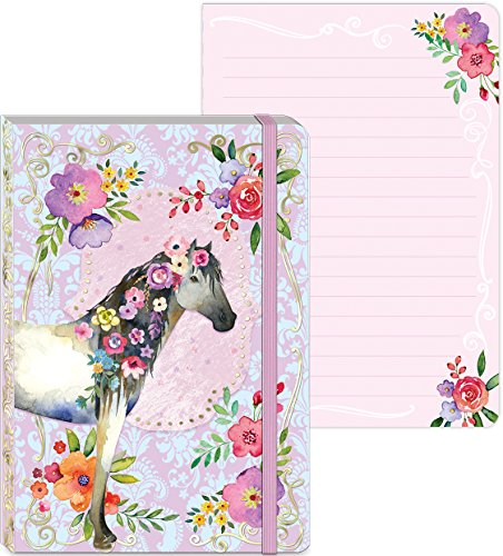 Molly and Rex Jeweled Horse Bungee Journal