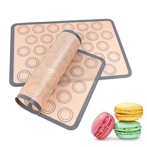 Silicone Baking Mats, McoMce Durable Macaron Silicone Mat, Non Stick Baking Sheet Silicone Mat for Bake Pan & Rolling, Food Grade Macaroon Baking Mat, Silicone Cooking Mat for Cookies & Pastry Making