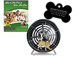 GoPet Small Treadwheel Indoor/Outdoor Dog Exercise Wheel for Dogs Up to 25 Pounds (Model #: CG4012) with FREE Custom Bone Shaped Dog Tag and E-Book