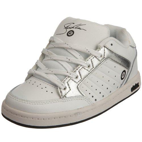 Etnies Little Kid/Big Kid Kids Sheckler Sneaker,White/Silver,2 M US Little Kid
