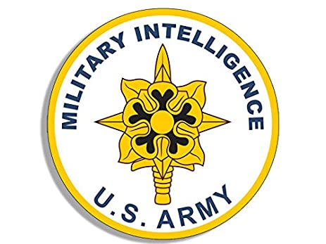 Round US Army Military Intelligence Seal Sticker Us Logo