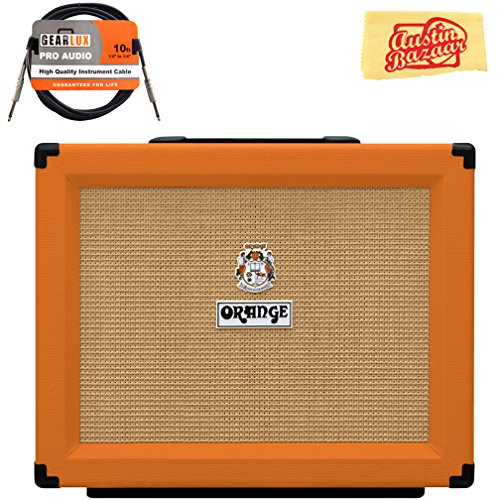 Orange PPC112 1x12-Inch Closed-Back Speaker Cabinet Bundle with Instrument Cable and Austin Bazaar Polishing Cloth