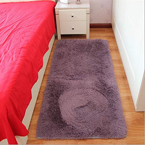 WONNA Luxury Soft Faux Fur Area Rugs Shaggy Carpet Plush Sofa Cover Seat Pad for Home Hotel Living Room Bathroom (Stretch Medallion)