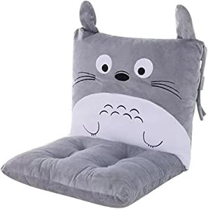 ChezMax Joint Detachable Rocking Chair Car Seat Back Padded Cushion Set with Ties for Men Women Office Cartoon Cat