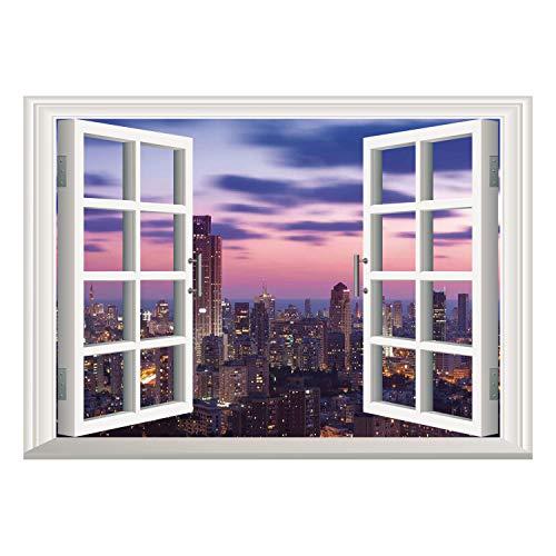 SCOCICI - Mural, marco de ventana, diseño de gallina de arte y cartulina, dibujado a mano con dibujo de cartón orgánico,...