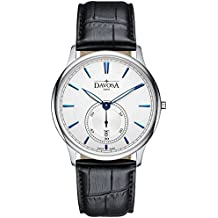 Davosa Swiss Flatline 16248315 Analog Men Wrist Watch Genuine Leather, White