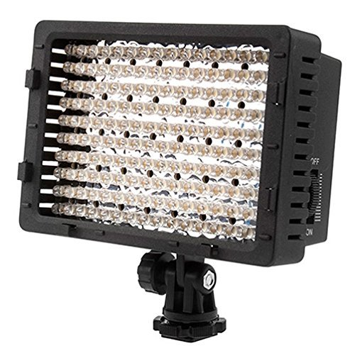 Neewer CN-160 LED Digital Camera Video Lighting Kit- Dimmable LED Video Light, Diffuser, Rechargeable Battery with Micro USB Battery Charger for Canon Nikon and Others DSLR Cameras and Camcorders 90090116
