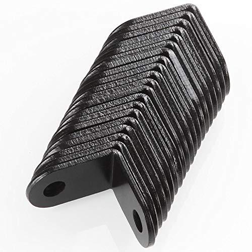 Black Corner Braces, 20Pcs L Corner Right Angle Bracket Joint Fastener, 26 x 26 mm Stainless Steel Hardware Braces by STARVAST by STARVAST (Image #4)