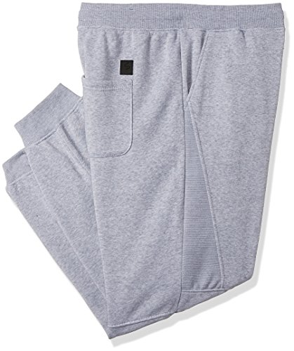 Southpole Men's Big and Tall Active Basic Jogger Fleece Pants, Heather Grey(Moto), 4XB