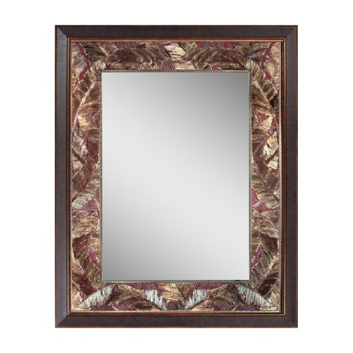 Head West Tropical Leaf Mirror, 26.5 by 34.5 by -