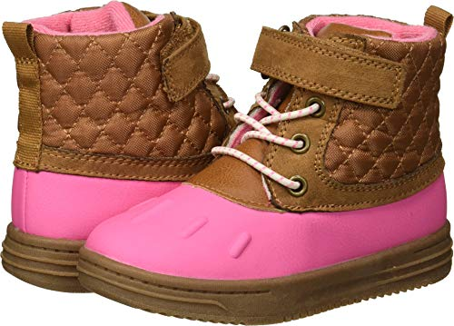 Carter's Girls' Bay2-G Duck Fashion Boot, Pink, 9 M US Toddler