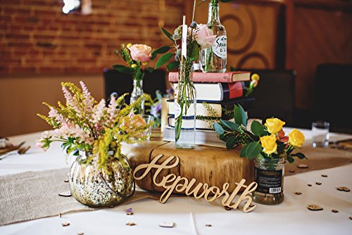 Place Settings - Custom Wooden Word Cutouts or Names - Laser Cut Wood Words for Wedding or Party Table Centerpieces or Decor (Priced and Sold Individually) -