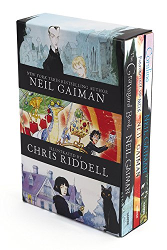 Neil Gaiman/Chris Riddell 3-Book Box Set: Coraline; The Graveyard Book; Fortunately, the Milk [Neil Gaiman] (Tapa Blanda)