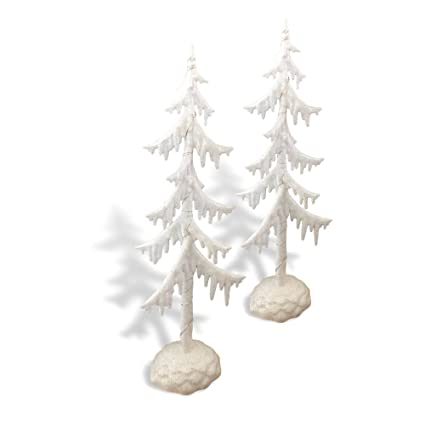 frosted white glitter trees set of 2 led table top christmas tree acrylic trees