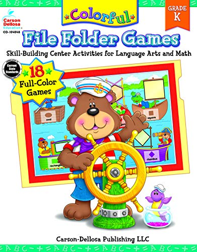Carson-Dellosa Publishing Colorful File Folder Games, Grade K -