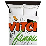 Queen Duvet Cover Halloween Witch and Famous Hat