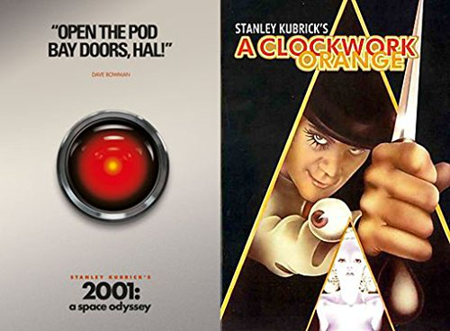Open the Pod Bay Doors, Alex Kubrick 2-Movie Collection - 2001: A Space Odyssey (Iconic Moments) & A Clockwork Orange 2-DVD Bundle
