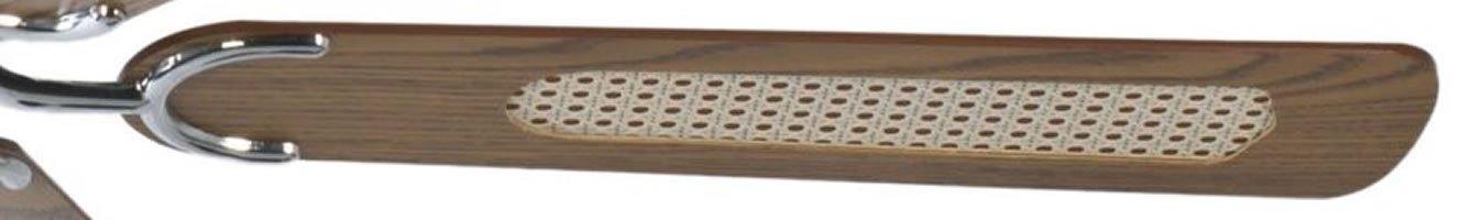Geh/äuse Stahl Pepeo Deckenventilator ohne Beleuchtung Potkuri 132 cm f/ür R/äume bis zu 25m/² Fl/ügelfarbe schwarz