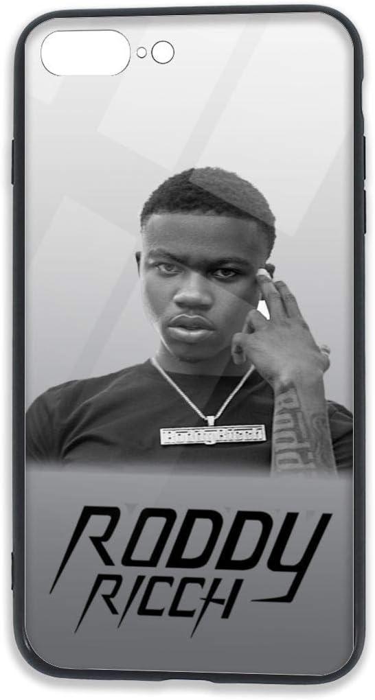 Roddy Ricch Phone Case for iPhone 7/8 Plus Case,iPhone 7 Plus Case,TPU Tempered Glass Phone Case for iPhone 8 Plus Case