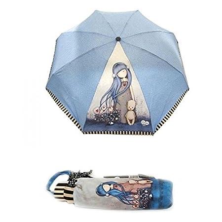 Paraguas Plegable Antiviento Dear Alice Santoro Gorjuss: Amazon.es: Juguetes y juegos