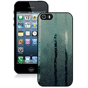 NEW Unique Custom Designed iPhone 5S Phone Case With Wet Glass Drops Falling_Black Phone Case