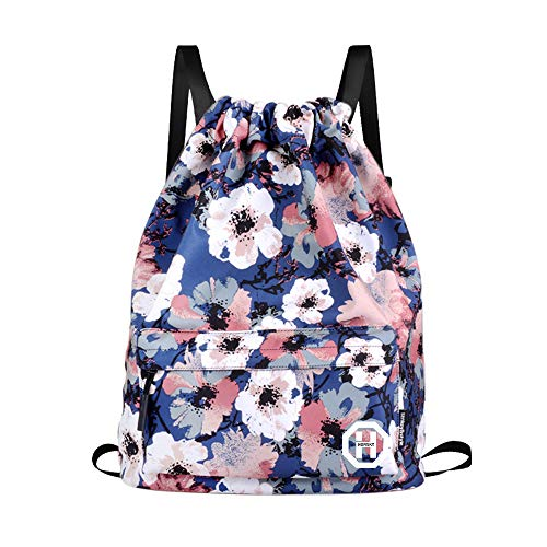 Sport Swimming Yoga School Backpack - Horsky Anime Leaf Shoulder Bag lightweight with Laptop Compartments for Students Teens Boy Girl Book Laptop Travel Camping 35 L (Plum Blossom)