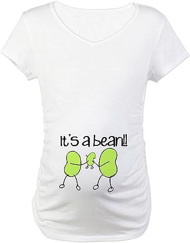 Amazon Com Cafepress Baby Bean Maternity T Shirt Maternity Tee Clothing