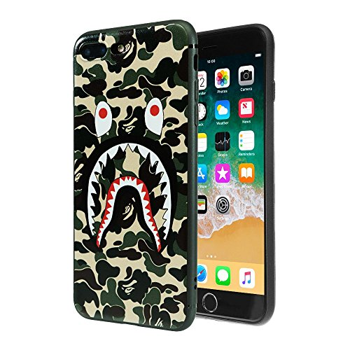 TatyCases Shark Face Protective Durable Soft Phone Case Compatible with iPhone 7/8 Plus - 5.5