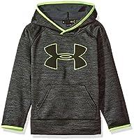 Under Armour Little Boys UA Logo Long Sleeve Hoody, Black Tonal Twist, 7