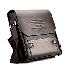 Skylly New Office Bag Polo Men Leather Briefcase Shoulder Bag Luggage