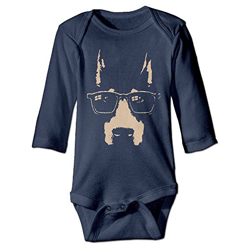 Richard Unisex Newborn Bodysuits Dobe Glasses Boys Babysuit Long Sleeve Jumpsuit Sunsuit Outfit 12 Months - 3d Virtual Try On Glasses