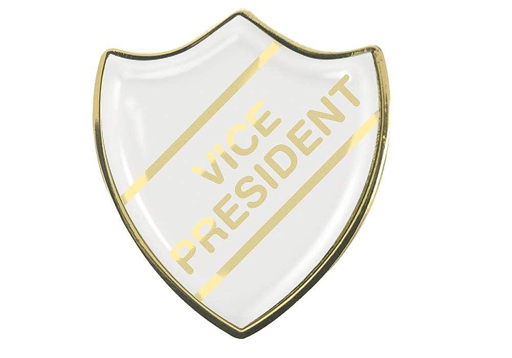Capricornone Vice President White School Shield Badge
